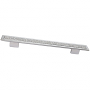 Ручка-скоба 192-160мм, отделка хром матовый 8.1044.192160.45