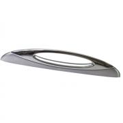 Ручка-скоба 128мм, отделка сталь шлифованная+хром глянец F132/E-CM5