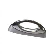 Ручка-скоба   64мм, отделка сталь шлифованная+хром глянец F132/C-CM5