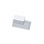 Ручка-кнопка правая, отделка хром глянец + сталь шлифованная F501/DX-CM5