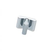 Ручка-кнопка, отделка сталь шлифованная + хром глянец F508-CM5