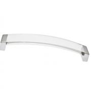 Ручка-скоба 160мм, отделка хром матовый + транспарент прозрачный 8.1062.0160.45-93