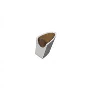 Ручка-кнопка, отделка алюминий + венге 225 AL/HW