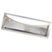Ручка-скоба 96мм врезная, отделка никель матовый 8.986.0096.30