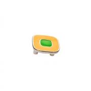 Ручка-скоба 32мм, отделка никель глянец + жёлтый/зелёный 24064Z0520B.Y32