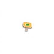 Ручка-кнопка, отделка никель глянец + жёлтый/зелёный 24064Z0300B.Y32