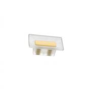 Ручка-кнопка 16мм, отделка транспарент матовый + жёлтый 8.1069.0016.94-0454