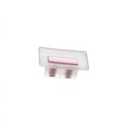 Ручка-кнопка 16мм, отделка транспарент матовый + розовый 8.1069.0016.94-77