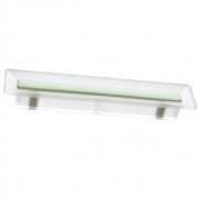 Ручка-скоба 96мм, отделка транспарент матовый + светло-зелёный 8.1069.0096.94-0411