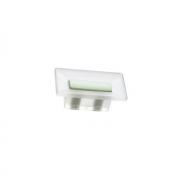 Ручка-кнопка 16мм, отделка транспарент матовый + светло-зелёный 8.1069.0016.94-0411