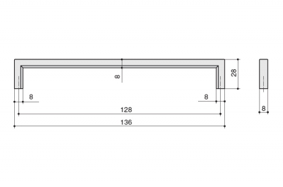 6765/810 Ручка-скоба 128мм, отделка черный нефтяной