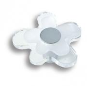 678CR Ручка кнопка детская, цветок белый