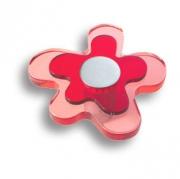 678RJ Ручка кнопка детская, цветок красный