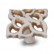 WPO.688.000.00V5 Ручка-кнопка cлоновая кость/золото винтаж