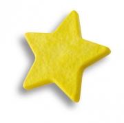 689AM Ручка кнопка детская, звезда желтая