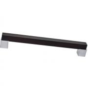 Ручка-скоба 128мм, отделка венге + хром матовый 9383/800