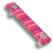 694MG Ручка скоба, цвет малиновый 96 мм