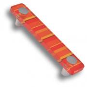 694NA Ручка скоба, цвет оранжевый 96 мм
