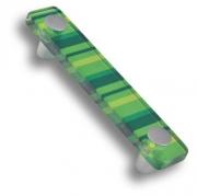 694VE Ручка скоба, цвет зеленый 96 мм