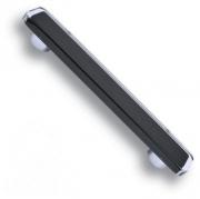 696NE2 Ручка-скоба, цвет черный 160 мм