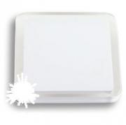 697BL Ручка кнопка квадратная, белый