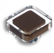 697MA Ручка кнопка квадратная, коричневый