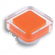 697NA Ручка кнопка квадратная, оранжевый