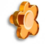 698NAX Ручка-кнопка, выполненная в форме цветка с пятью лепестками, цвет оранжевый