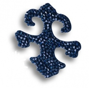 702810-001BBL Swarovski elements Декоративная накладка Valentina, цвет синий