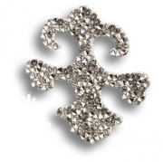 702810-001CAL Swarovski elements Декоративная накладка Valentina, цвет серебро