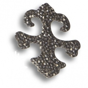 702810-001SSHA Swarovski elements Декоративная накладка Valentina, цвет тёмно-серый