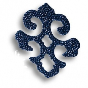 702812-001BBL Swarovski elements Декоративная накладка Valentina, цвет синий