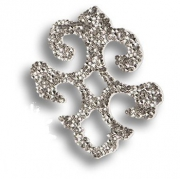 702812-001CAL Swarovski elements Декоративная накладка Valentina, цвет серебро