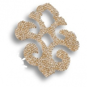 702812-001GSHA Swarovski elements Декоративная накладка Valentina, цвет золотой