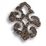 702812-001SSHA Swarovski elements Декоративная накладка Valentina, цвет тёмно-серый