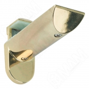 703352 KAIMAN Менсолодержатель для деревянных и стеклянных полок 7 - 41 мм, золото (2 шт.)