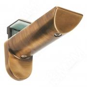 703354 KAIMAN Менсолодержатель для деревянных и стеклянных полок 7 - 41 мм, бронза состаренная (2 шт.)