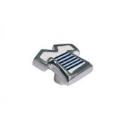 Ручка-кнопка, отделка алюминий полированный + смола 5606/000