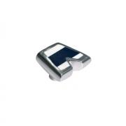 Ручка-кнопка, отделка алюминий полированный + смола 5607/000