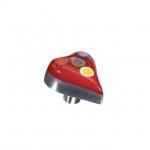 Ручка-кнопка, отделка алюминий полированный + смола 5605/000