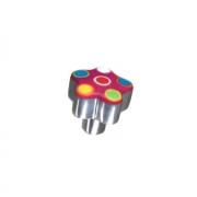 Ручка-кнопка, отделка алюминий полированный + смола 5604/000