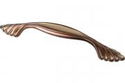 WMN.742X.128.M001H Ручка-скоба 128мм, отделка медь Сиена с золотой патиной