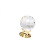 Ручка-кнопка, отделка золото глянец + стекло 9992/100
