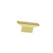 Ручка-кнопка 16мм, отделка золото глянец + горный хрусталь CH0102-016.GP