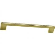 Ручка-скоба 192мм, отделка золото глянец + горный хрусталь CH0102-192.GP