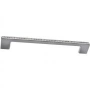 Ручка-скоба 192мм, отделка хром глянец + горный хрусталь CH0102-192.PC