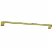 Ручка-скоба 320мм, отделка золото глянец + горный хрусталь CH0102-320.GP