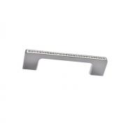Ручка-скоба 96мм, отделка хром глянец + горный хрусталь CH0102-096.PC