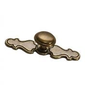 Ручка-кнопка d.31 + накладка 108х27мм, отделка бронза A067.BB/A068.BB