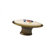 Ручка-кнопка, отделка бронза + керамика C4155-60.ABD/ALF.28